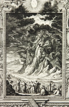 Copperplate Engraving of Biblical Scene in Exodus by: Georg Daniel Heumann