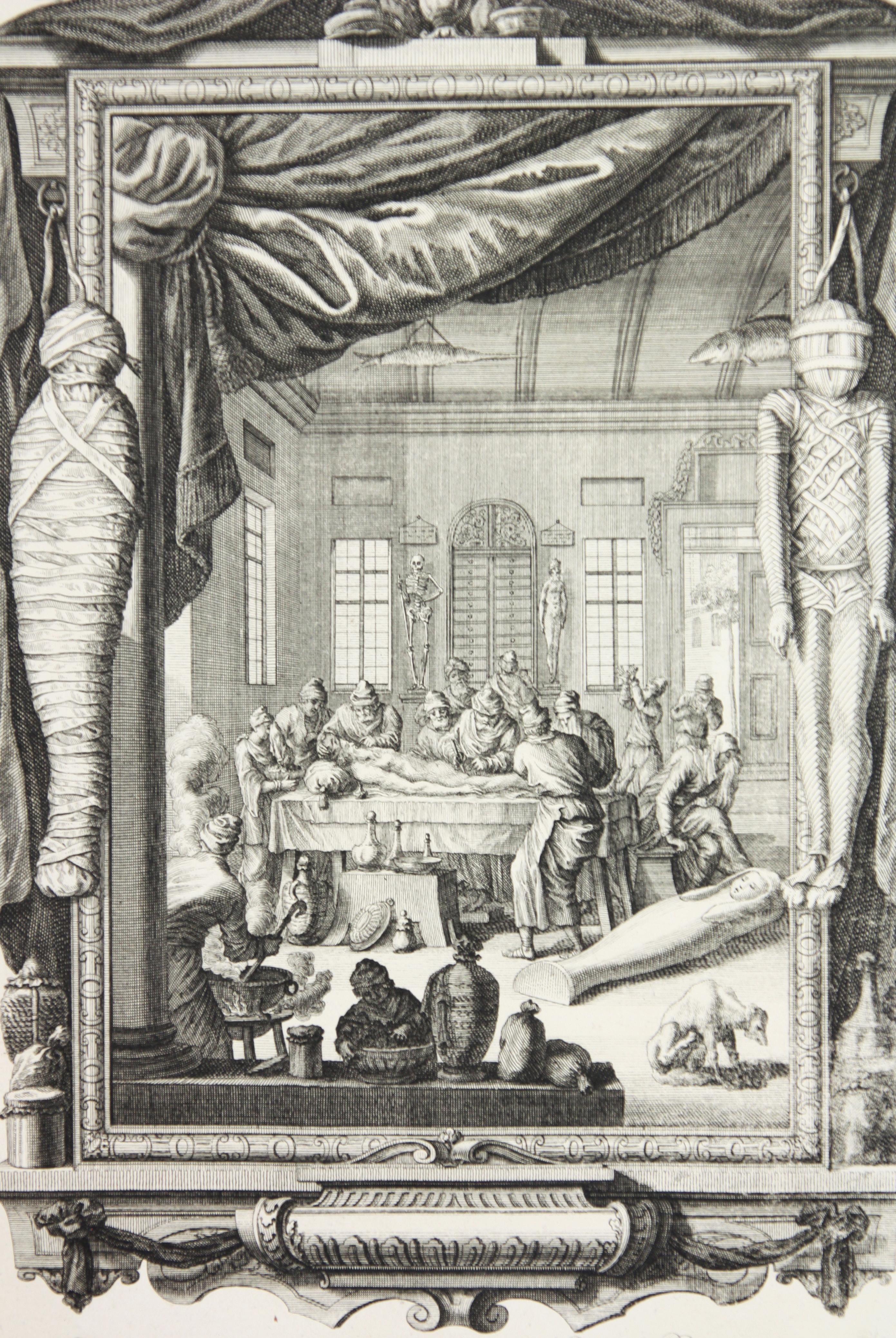 Copperplate Engraving of Biblical Scene in Genesis by: Georg Daniel Heumann
