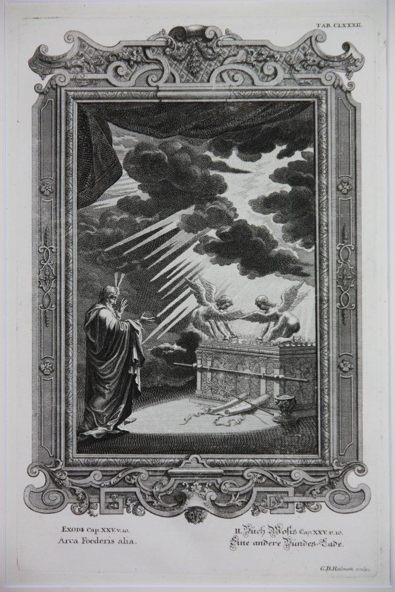 Copperplate Engraving of Biblical Scene in Exodus by: Georg Daniel Heumann - Print by Georg Daniel Heumann