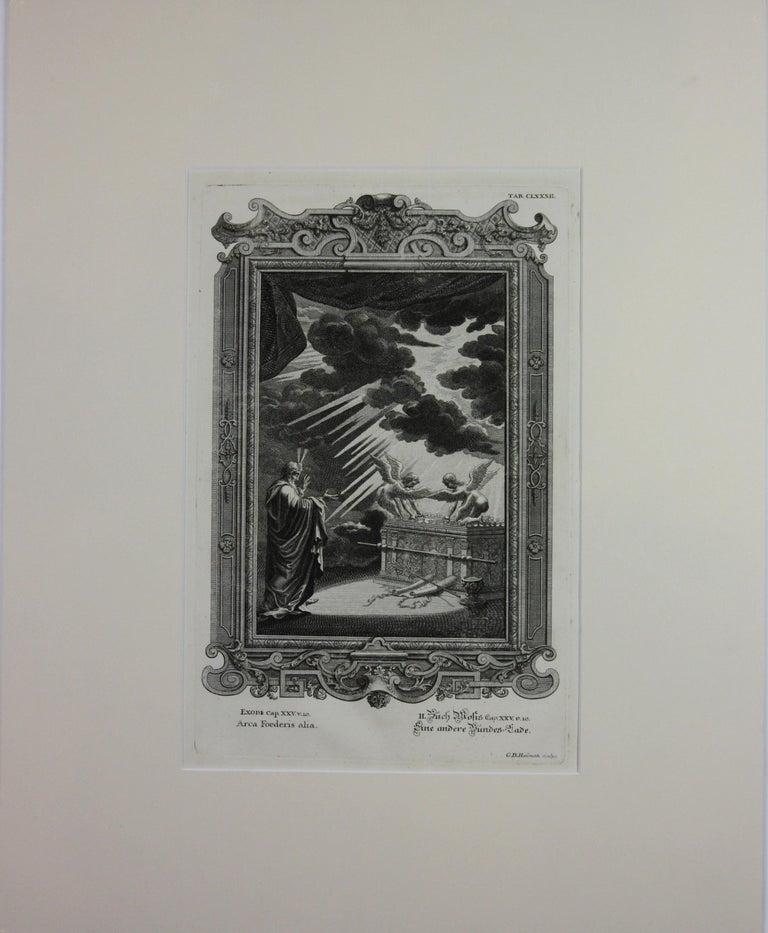Copperplate Engraving of Biblical Scene in Exodus by: Georg Daniel Heumann - Realist Print by Georg Daniel Heumann