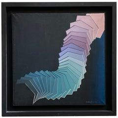 Periodica Dinamica -  Italian Oi on canvas cm.75x75 by Vincenzo Pugliese