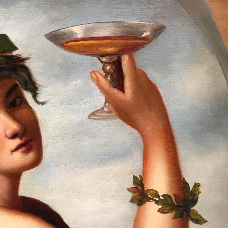 Autumn - Eugenio De Blasi Portrait Italian Oil on Canvas Painting For Sale 1