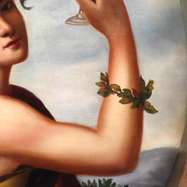 Autumn - Eugenio De Blasi Portrait Italian Oil on Canvas Painting For Sale 2
