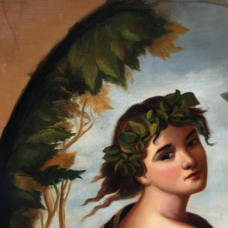 Autumn - Eugenio De Blasi Portrait Italian Oil on Canvas Painting For Sale 8