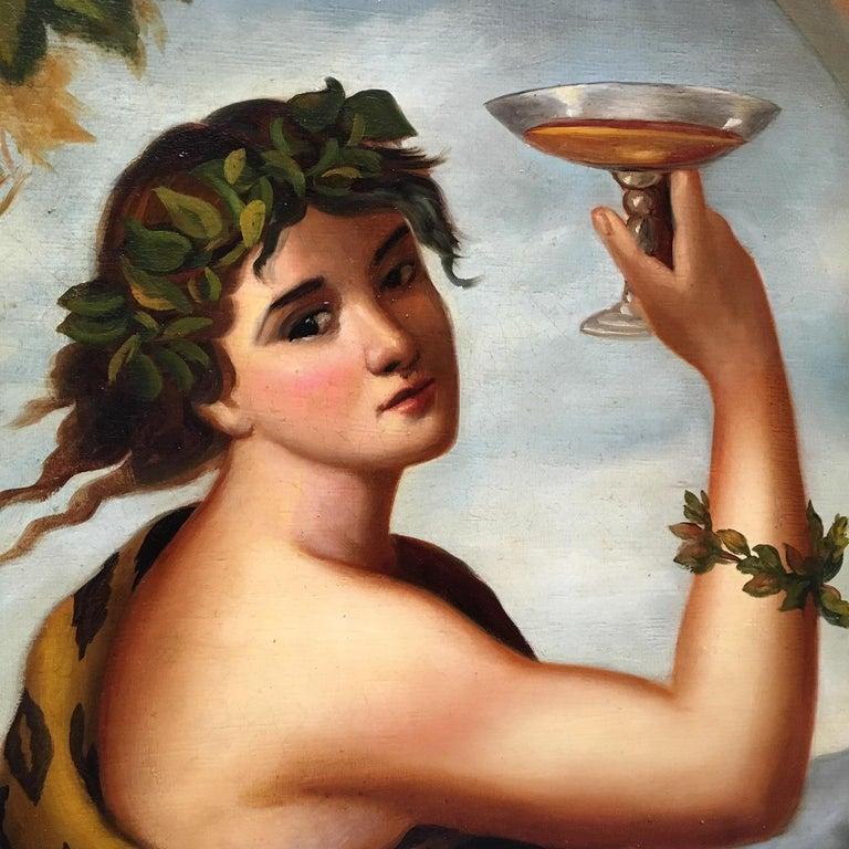 Autumn - Eugenio De Blasi Portrait Italian Oil on Canvas Painting For Sale 9