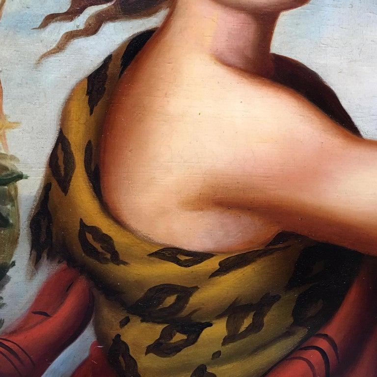 Autumn - Eugenio De Blasi Portrait Italian Oil on Canvas Painting For Sale 3