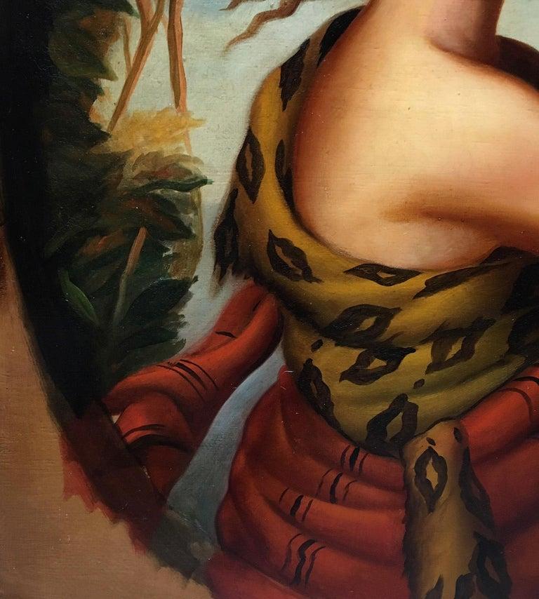 Autumn - Eugenio De Blasi Portrait Italian Oil on Canvas Painting For Sale 6