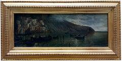 MARINE - Italian landscape oil on canvas painting, Mario Rosario Allegretti
