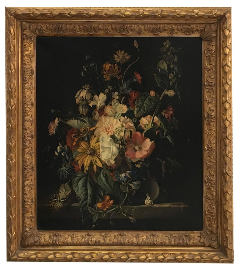 FLOWERS - Italian still life oil on canvas  painting, Roberto Suraci - Painting by Roberto Suraci