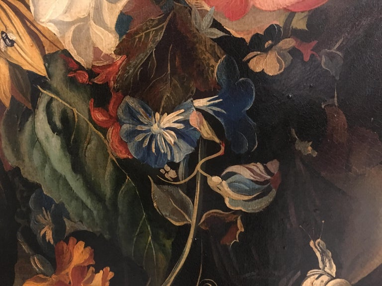 FLOWERS - Italian still life oil on canvas  painting, Roberto Suraci For Sale 2