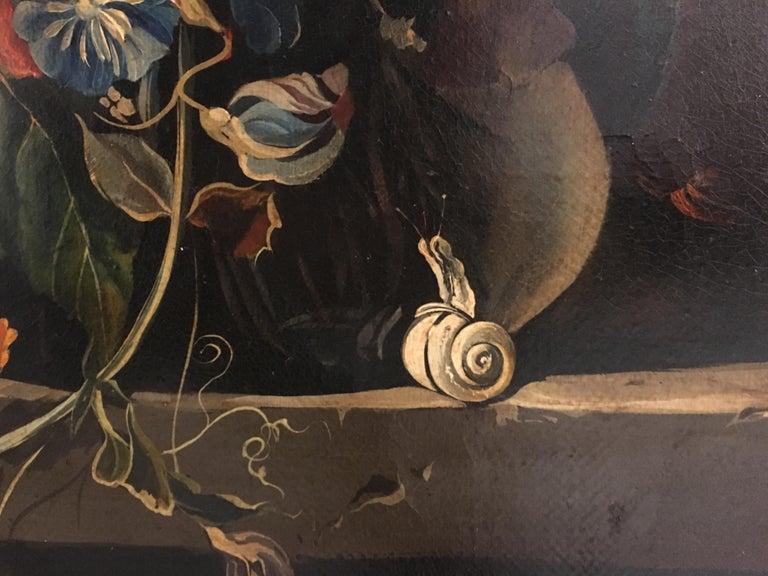 FLOWERS - Italian still life oil on canvas  painting, Roberto Suraci For Sale 3