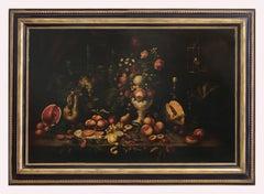 Still Life - Italian Oil On Canvas Painting by Antonio Jannone