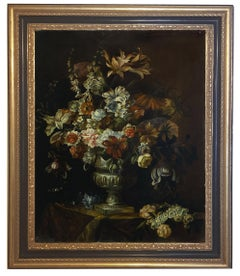 FLOWERS - Italian still life oil on canvas  painting, Roberto Suraci