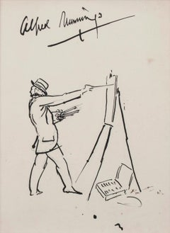 Self-Portrait of the Artist at an Easel - Sir Alfred Munnings - Self Portrait