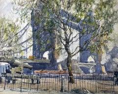 Tower Bridge, London - Aiden Lassell Ripley - American - Watercolor on Board