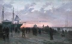 Pont-tourné à Saint-François, Le Havre - Henri Louis Scott - French