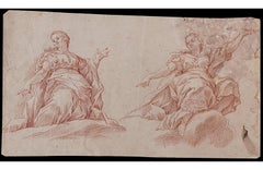 School of Central Italy, 17th century: Studies for Two Allegorical Figures