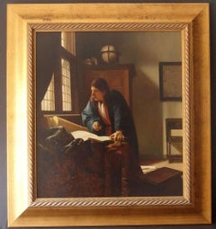 """""""The Geographer"""" After Johannes Vermeer Painting"""