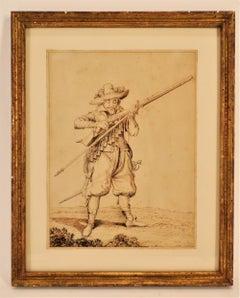 """After Jacob de Gheyn II after """"Musketeer"""""""