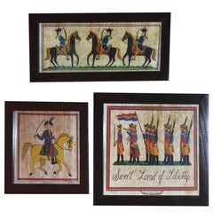 Susan Dual Signed Set of Three Limited Edition Folk Art Lithographs