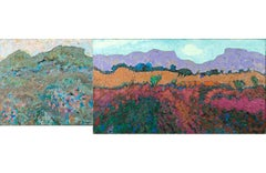 20th Century Landscape Painting Pair by Charles Holman