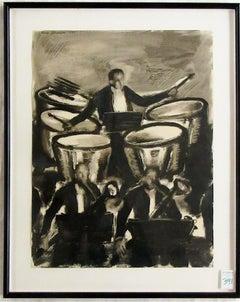 """Music #17"" George Johanson (Seattle/Portland, Oregon) Oil on Paper"
