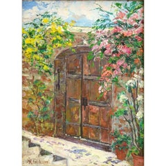 "M. Giliberti (20th Century) Oil Painting ""Distinctive Entrance"""