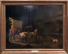 Charles Towne Oil Painting Entitled Returning the Horses to the Stable