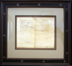 Charles Toppan Facsimile Engraving of Jefferson's First Draft of the Declaration