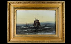 Maritime Oil Painting of Galleon at Sea by Robert Guenning