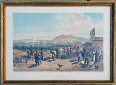 "Paul & Dominic Colnaghi Hand Colored Engraving ""Kerch From the North - Plate 3"""