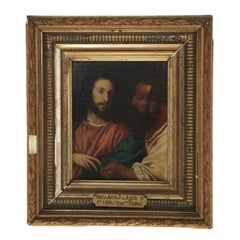 The Tribute Money - after Titian - Tiziano Vecelli, O/c Mounted on Board