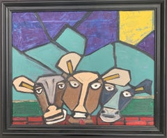Abstract Cows by American Artist Kevin Steele