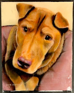 Oil/Pastel Painting of Dog by StevN Dutton