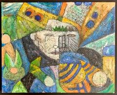 Original Modern Cubist Art by J Norton (One-of-a-kind)