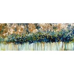 Original Modern Acrylic on Canvas Warm Drib Colors by Alexandra Macouzet
