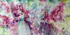 Original Modern Acrylic on Canvas Pretty in Pink by Alexandra Macouzet