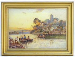 English Landscape Oil Painting by Enid Crowther