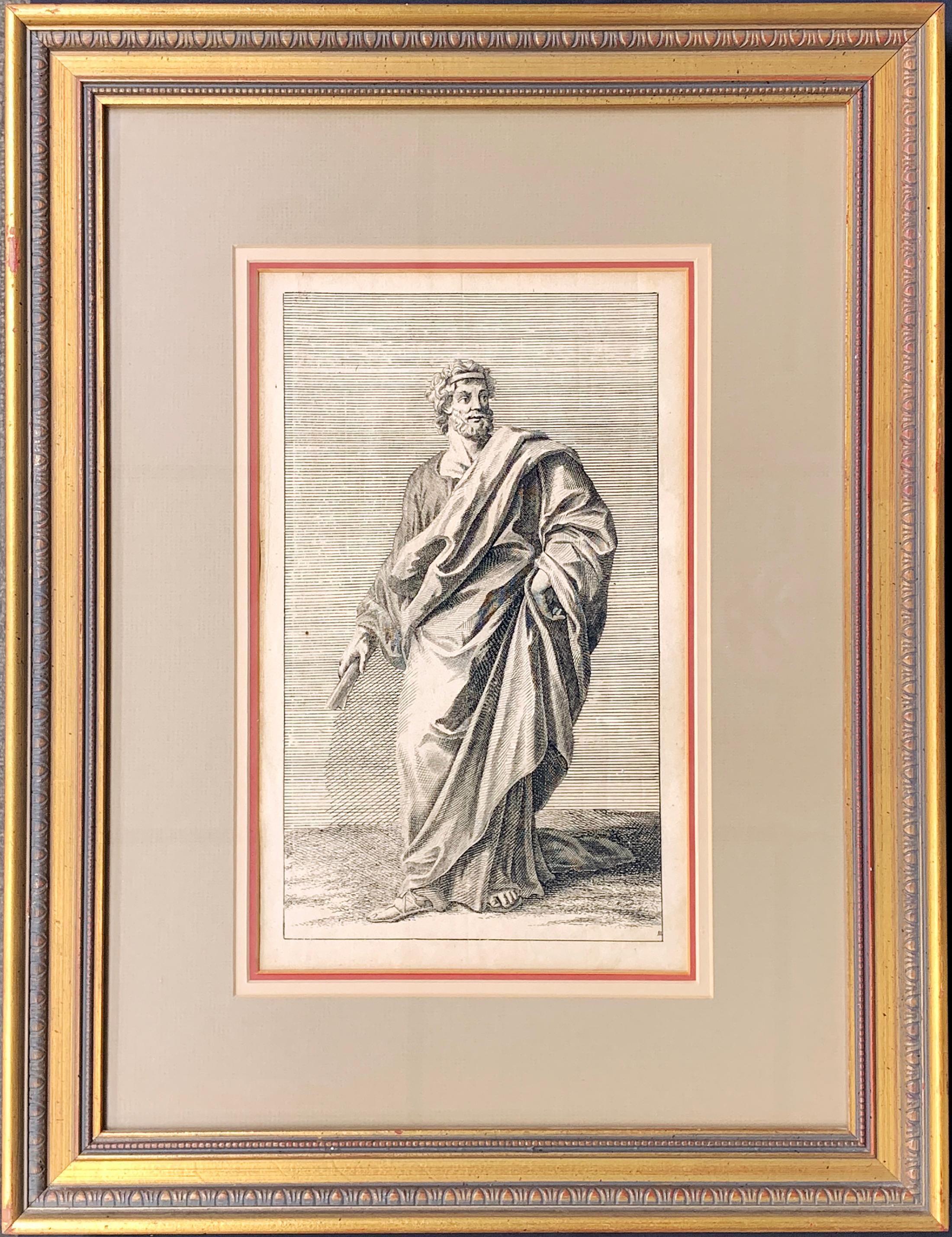 18th c. German Intaglio Engraving by Georg Preisler #10 of STATUES OF ROME