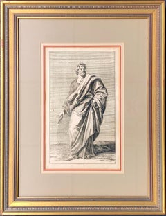 18th c. German Intaglio Engraving by Georg Preisler #10 of STATUES OF ROME