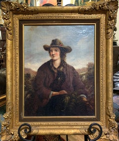 Early 19th c. American Folk Art Portrait Oil Painting by Thomas Ware