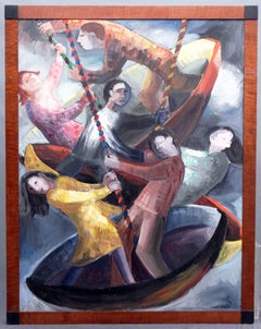Figural Oil Painting by the Late Helen Stern