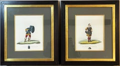 Pair of Antique H/C Military Engravings Sir Samuel Rush Meyrick