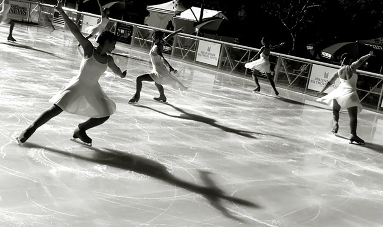 Chris Martinez Color Photograph - Ice Dancers and Shadows