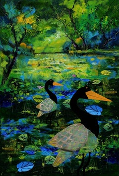 Secret Waters With Herons