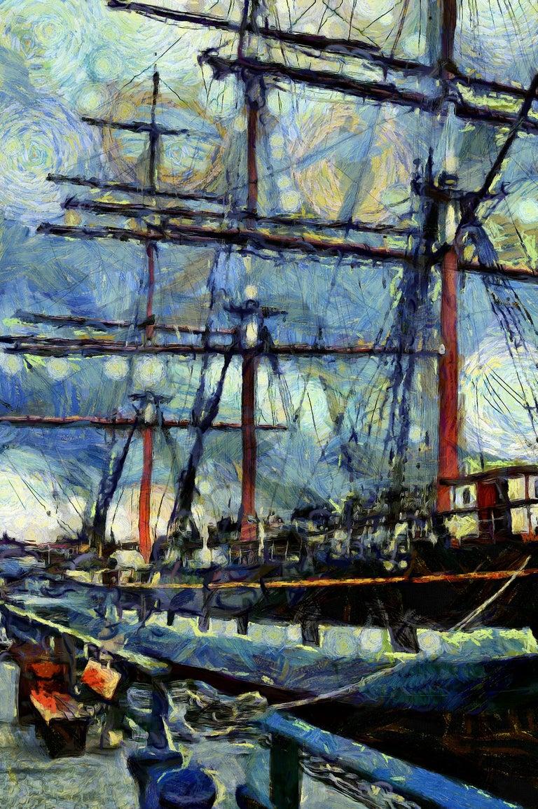 Clay Harris Abstract Painting - Tall Ship