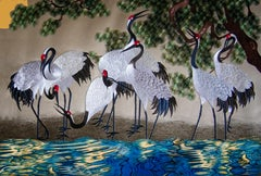 Cranes, Drinking