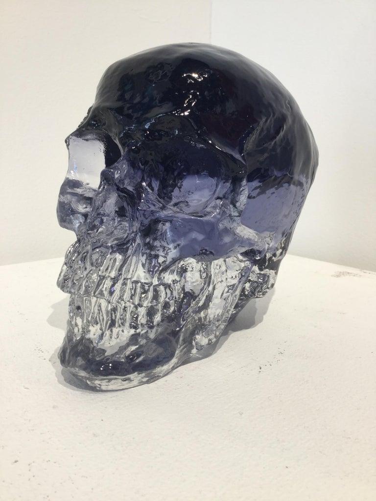 Sam Tufnell, Black Crystal Skull - Sculpture by Sam Tufnell