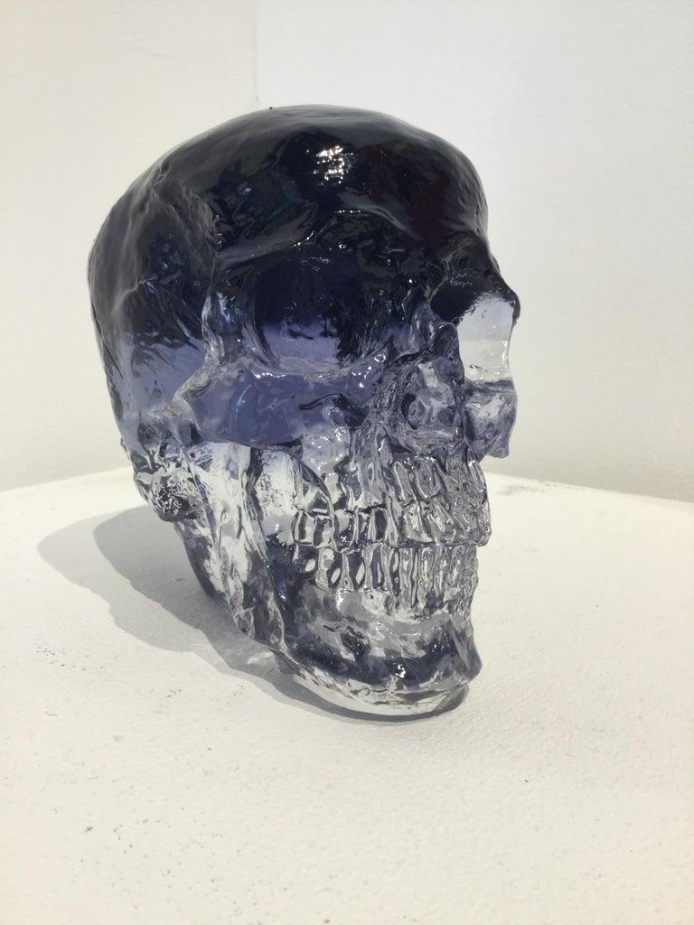 Sam Tufnell, Black Crystal Skull - Contemporary Sculpture by Sam Tufnell