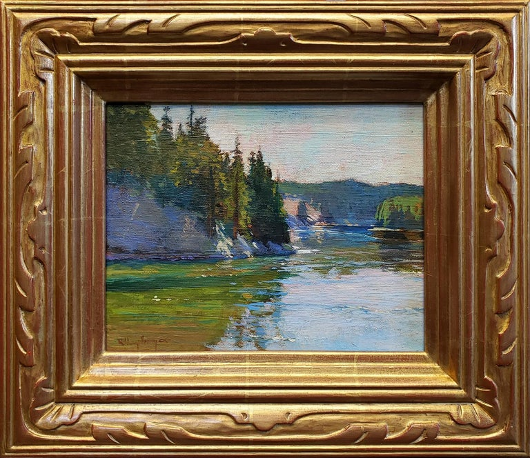 Richard Humphrey Landscape Painting - Bend in the River, Yellowstone